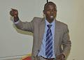 Juvens Ntampuhwe, the project coordinator of 'Justice et memoir' at RCN Justice et Democratie